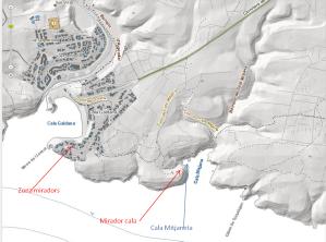 planol itinerari Mitjana